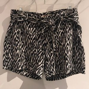Banana Republic flowy animal print shorts